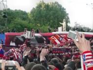 Final copa del Rey At Madrid vs R.Madrid en el Bernabeu con presencia del Frente Madrileño