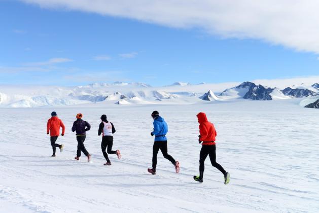 marathon des glaces en Antarctique
