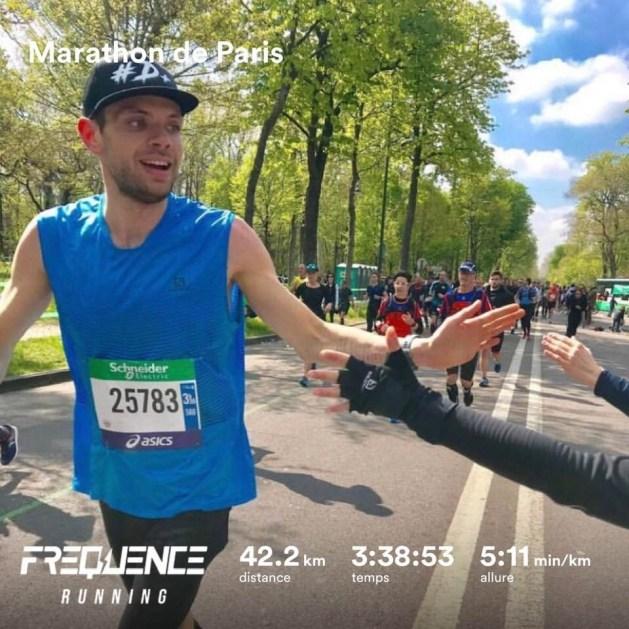 Pierre Marc au marathon de Paris