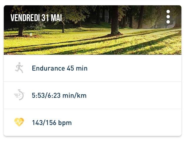 Endurance 45 minutes