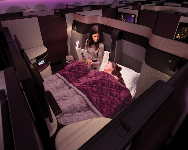 Qatar Airways Business Class pysj fra White Company Airline of the year