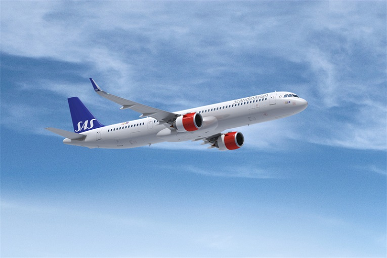 A321 Long Range Solid mars måned SAS første A321LR