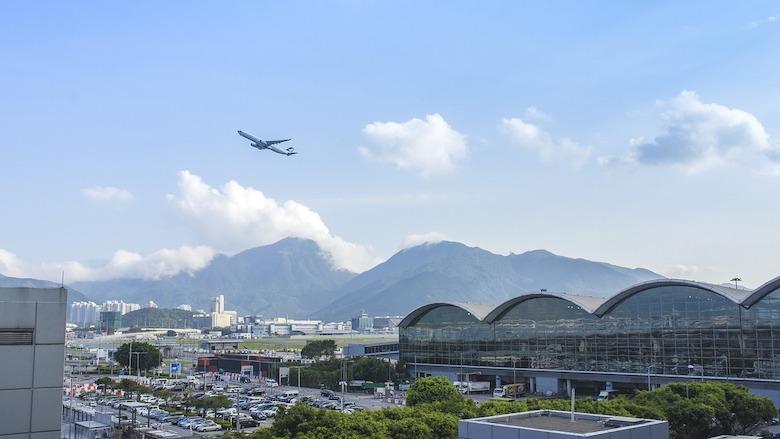 Flyplassen i Hong Kong