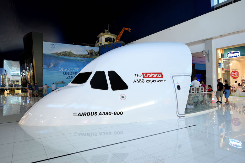luftfartsopplevelser på Dubai Mall