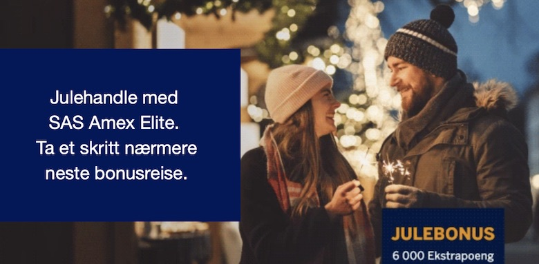 Julebonus med SAS American Express