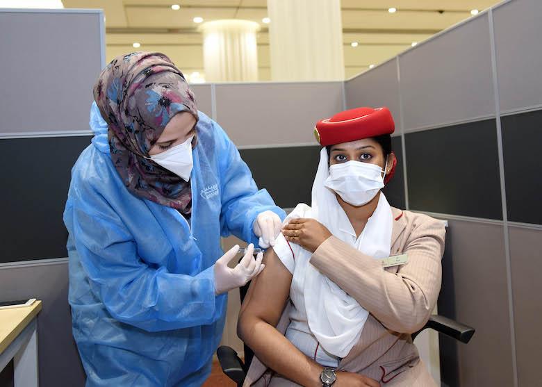 Emirates-gruppen har startet sitt Covid-19 vaksineringsprogram