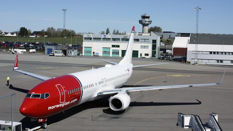 gjenopptar flyvninger fra torp Norwegian