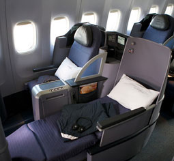First Reconfigured United Airlines Premium Service 757