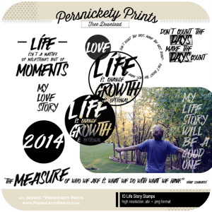 Persnickety Prints Freebie - Life Story Stamp