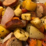 Roasted Italian Vegetables and Sausage