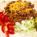 Turkey Taco Salad with Cassava Flour Tortilla Chips
