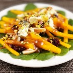 Persimmon Salad with Pomegranate Fig Dressing