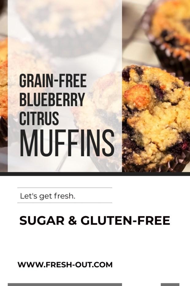 GRAIN-FREE BLUEBERRY CITRUS MUFFINS
