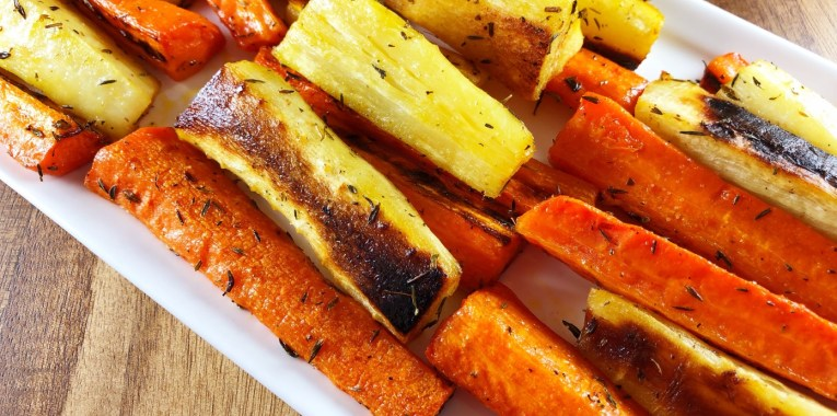 Thyme Roasted Carrots and Parsnips