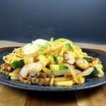 Paleo Zucchini Mushroom Stir Fry