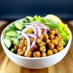 Za'atar Roasted Chickpea Salad