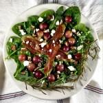Roasted Grape and Feta Salad