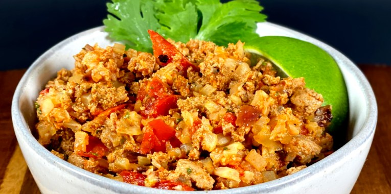 Healthy Chorizo and Seasoned Cauliflower Rice