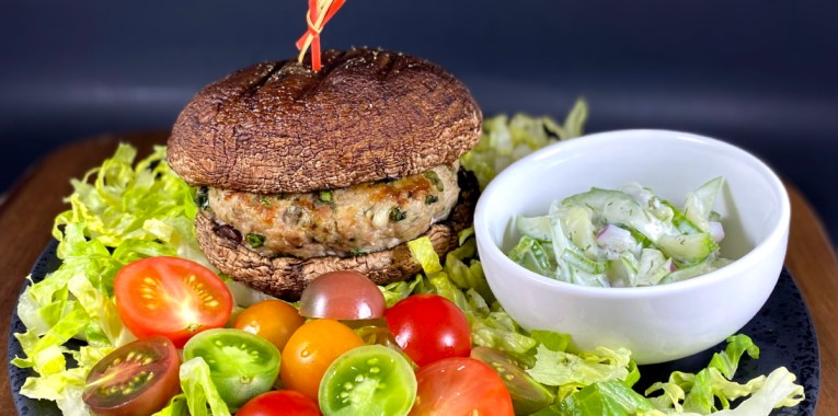 Loaded Greek Turkey Burgers