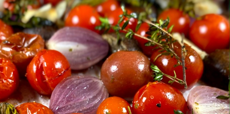 Italian Roasted Cherry Tomatoes and Mushrooms