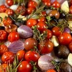 Italian Roasted Cherry Tomatoes and Mushrooms