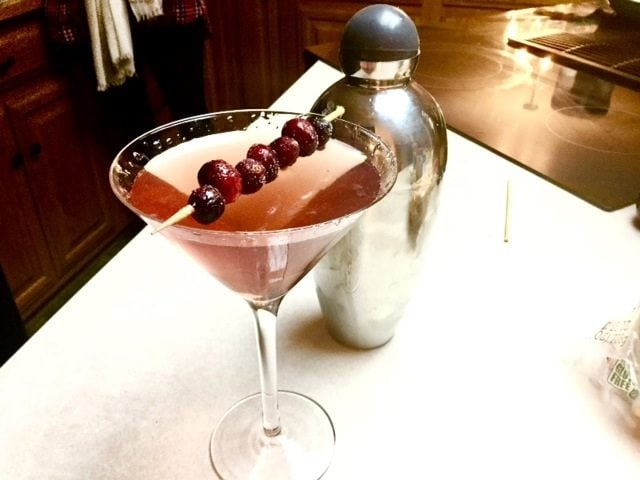 Cocktail hour- cranberry martini