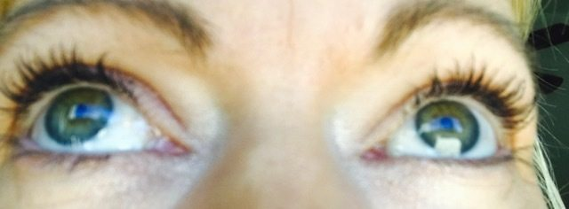 After lash lift and tint