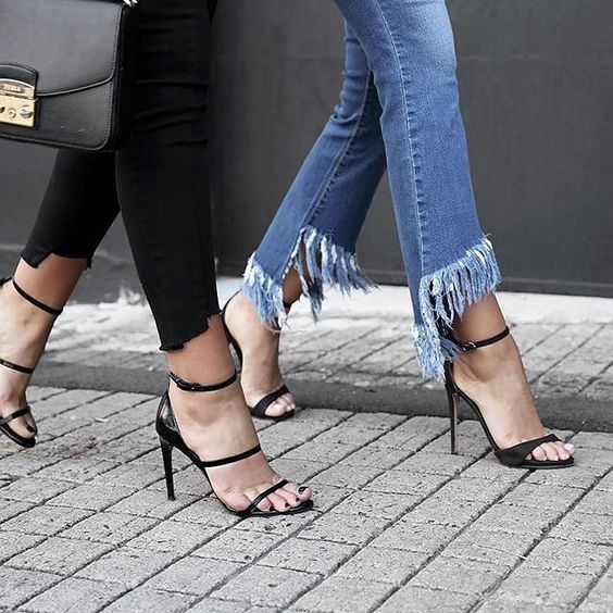 Spring Fashion Frayed Denim