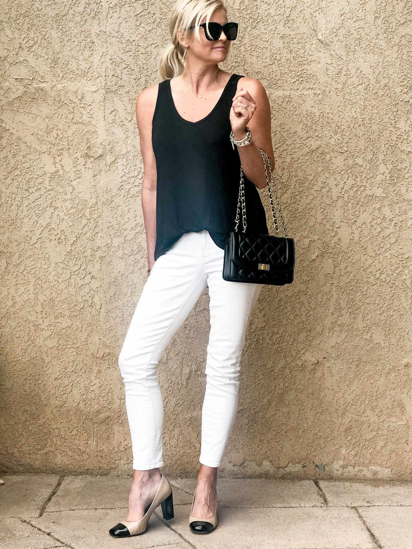 styling white jeans for date night