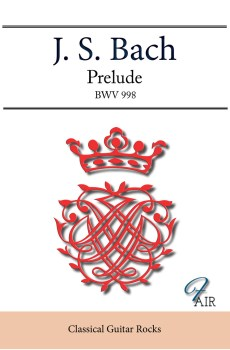 Prelude BWV998 score classical guitar