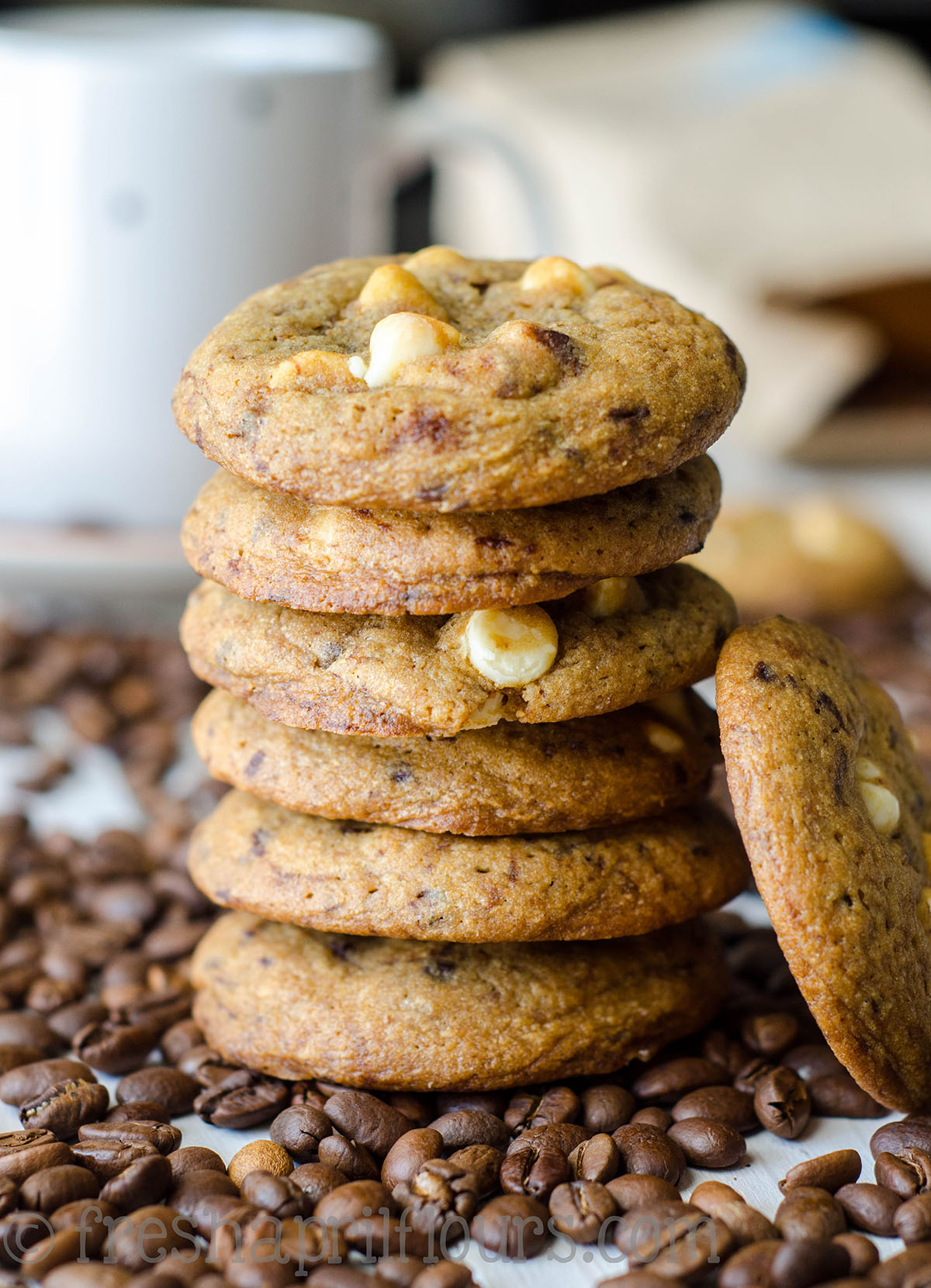 stack of cappuccino cookies