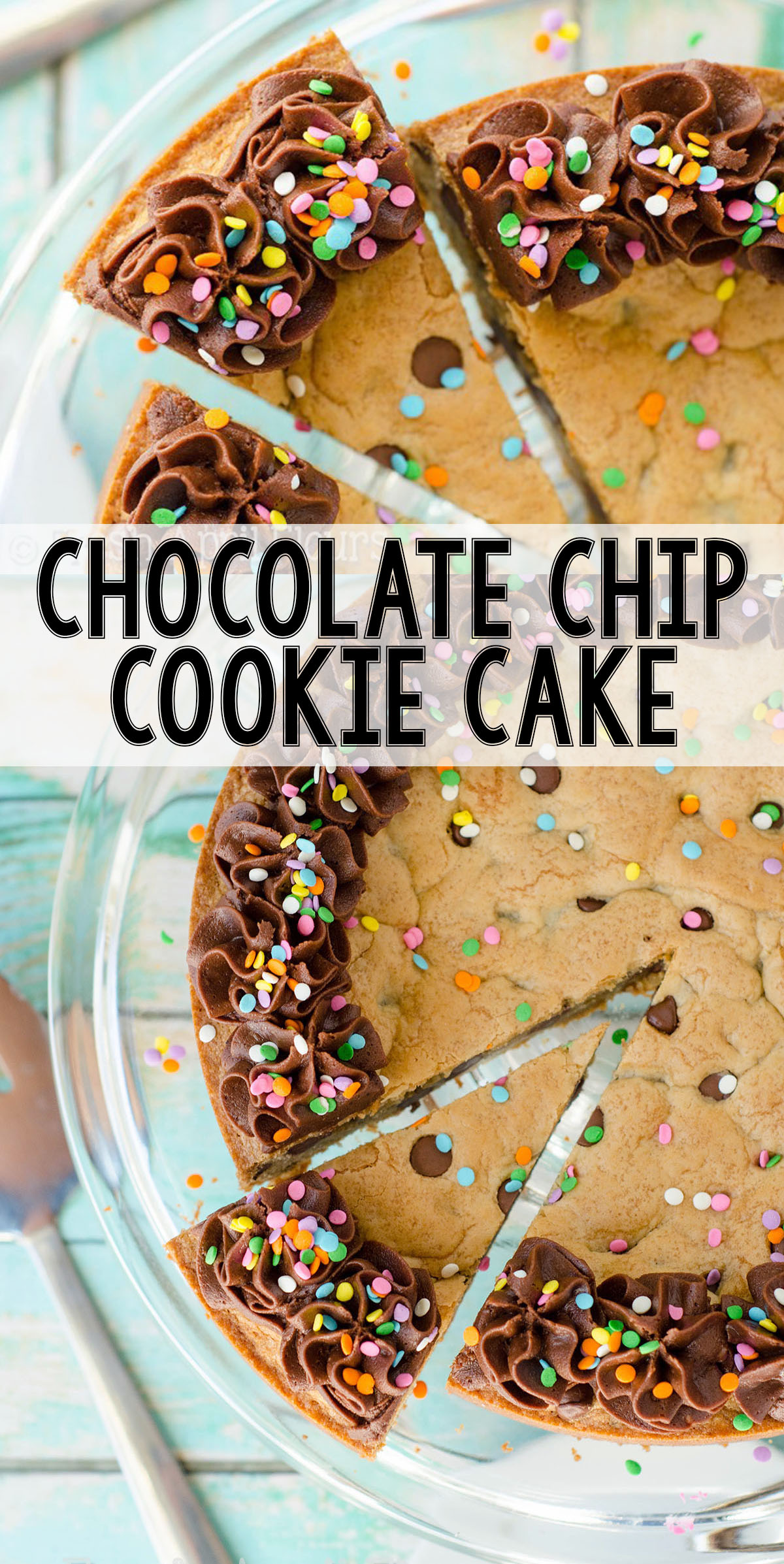 The best way to eat a chocolate chip cookie! Soft in the center, chewy on the edges, and the perfect canvas for decorating for your celebration!