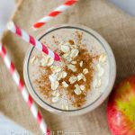 Healthy Apple Pie Smoothie: Made with good-for-you ingredients but tastes just like apple pie. Naturally sweetened and gluten free!