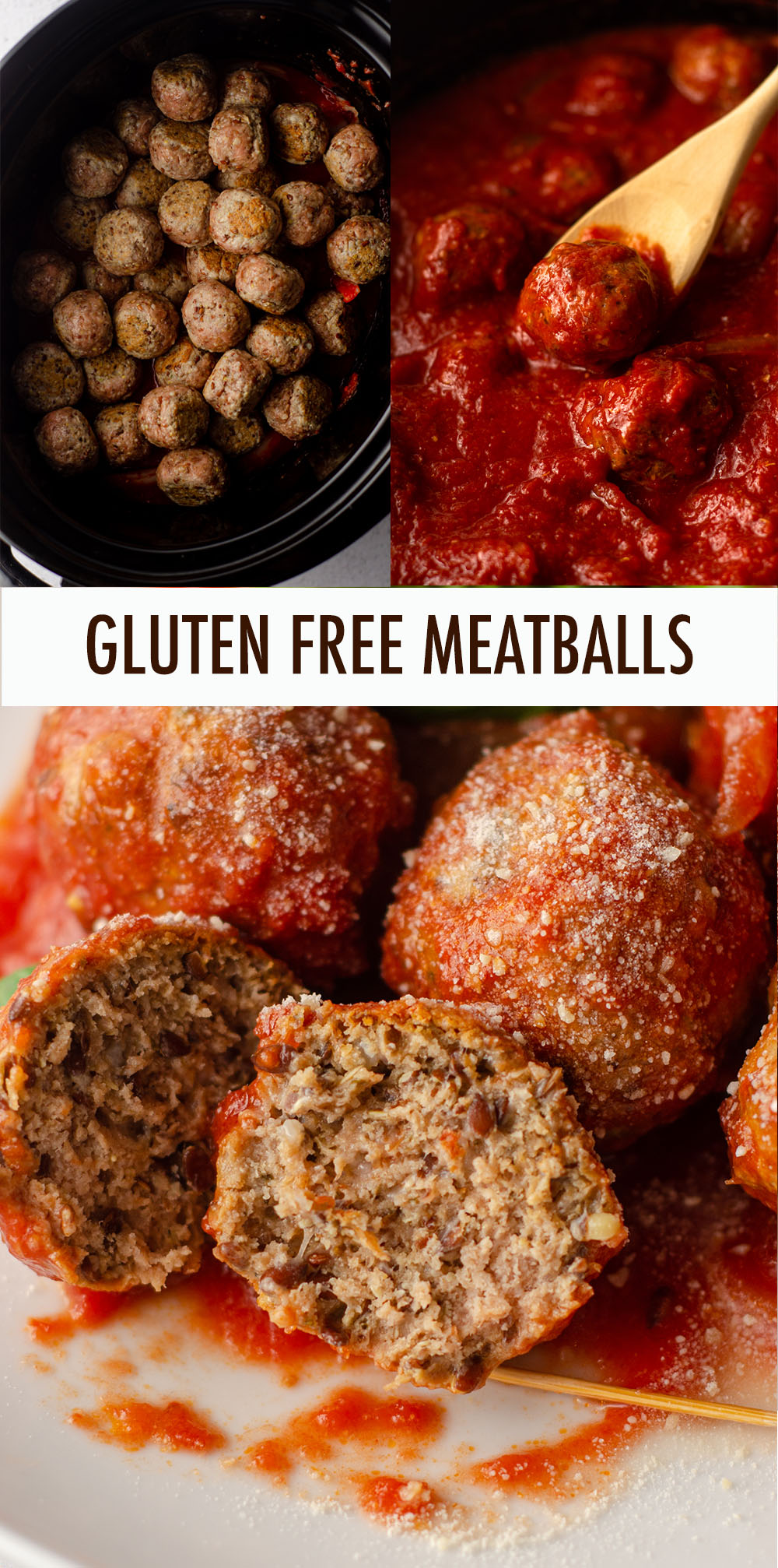 Easy, flavorful gluten free turkey meatballs made with ground flaxseed in place of breadcrumbs.
