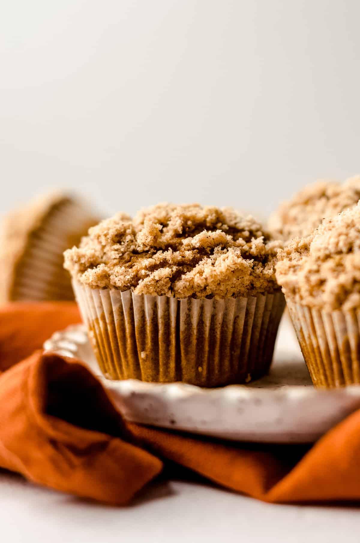 pumpkin muffins on a plate