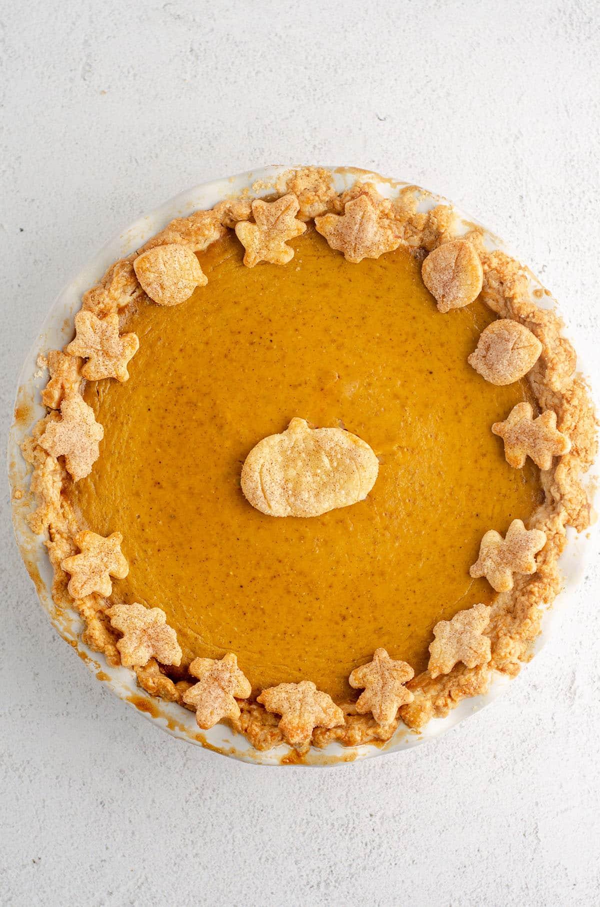 aerial photo of pumpkin pie