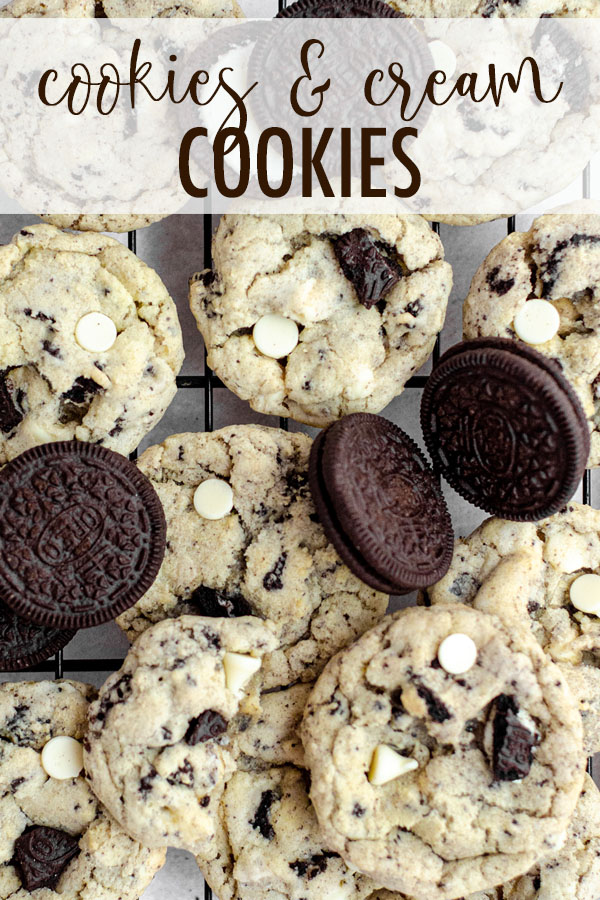Chewy, no chill white chocolate chip cookies filled with chunks of crunchy Oreo cookies.
