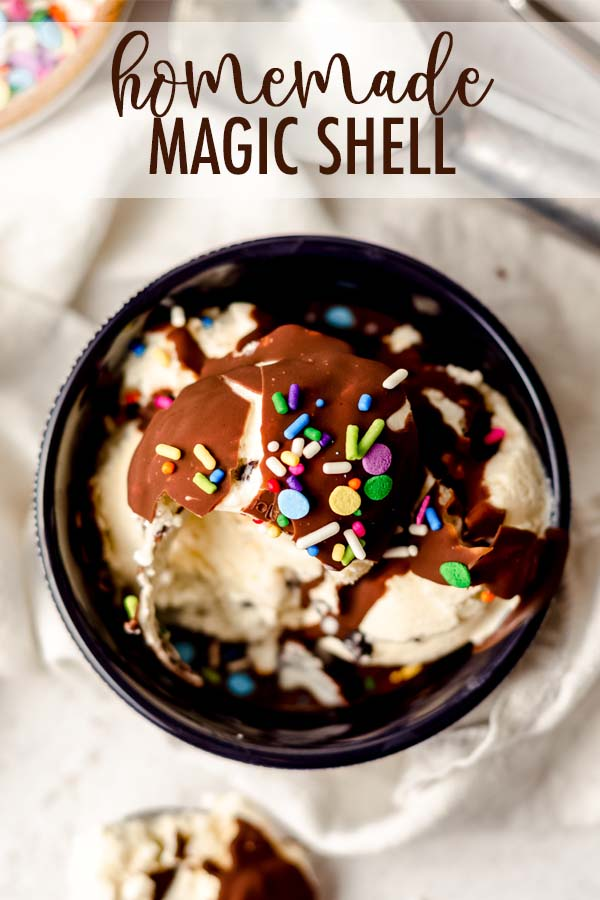 An easy, 3-ingredient recipe for magic shell you can make at home. Bring on the sundaes!