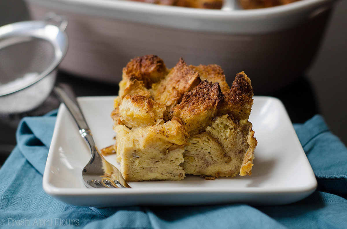 french toast casserole on a plate