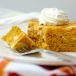 Pumpkin Cheesecake Swirl Sheet Cake