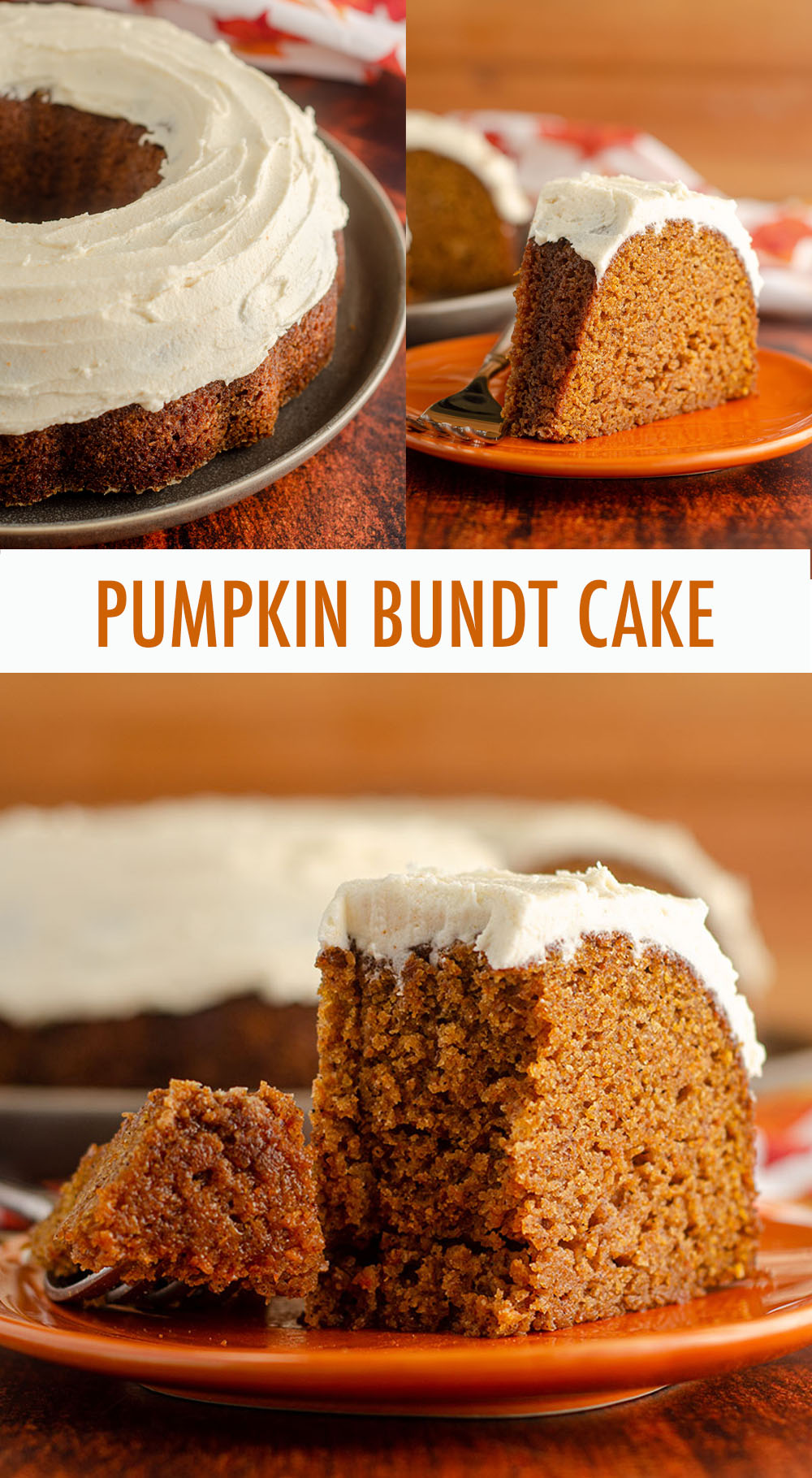 Moist, spiced bundt cake made with real pumpkin and covered in a decadent brown butter buttercream.