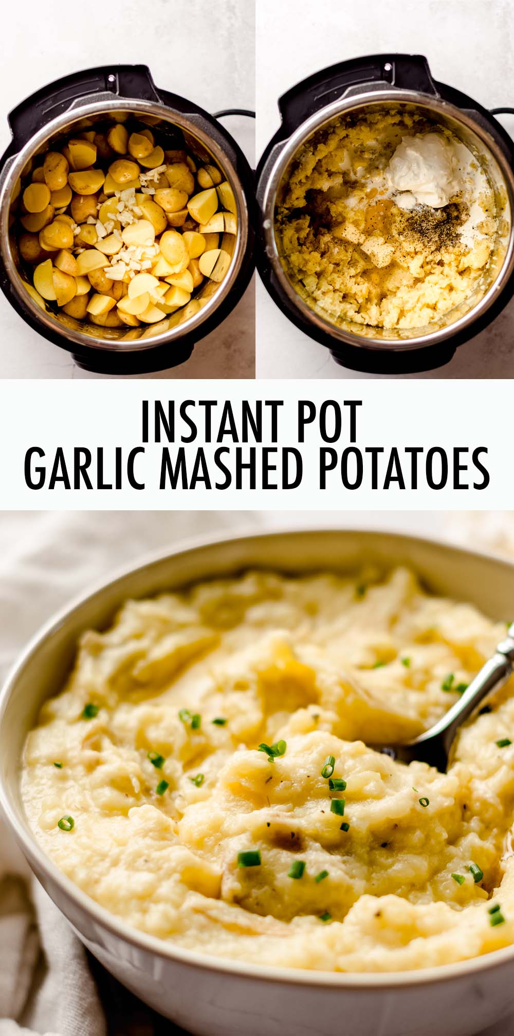 Just a few minutes of ingredient prep, then let your Instant Pot do the rest! These garlic mashed potatoes can be made creamy and smooth or textured and chunky. No matter how you like to eat them, you're going to love how simple these mashed potatoes are to make.