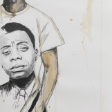 Real NEGUS Don't Die: Fire Inside. Graphite and acrylic on paper. 39x26 in. 2012. Fahamu Pecou