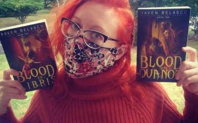 Author Raven Belasco and her vampires in the local library