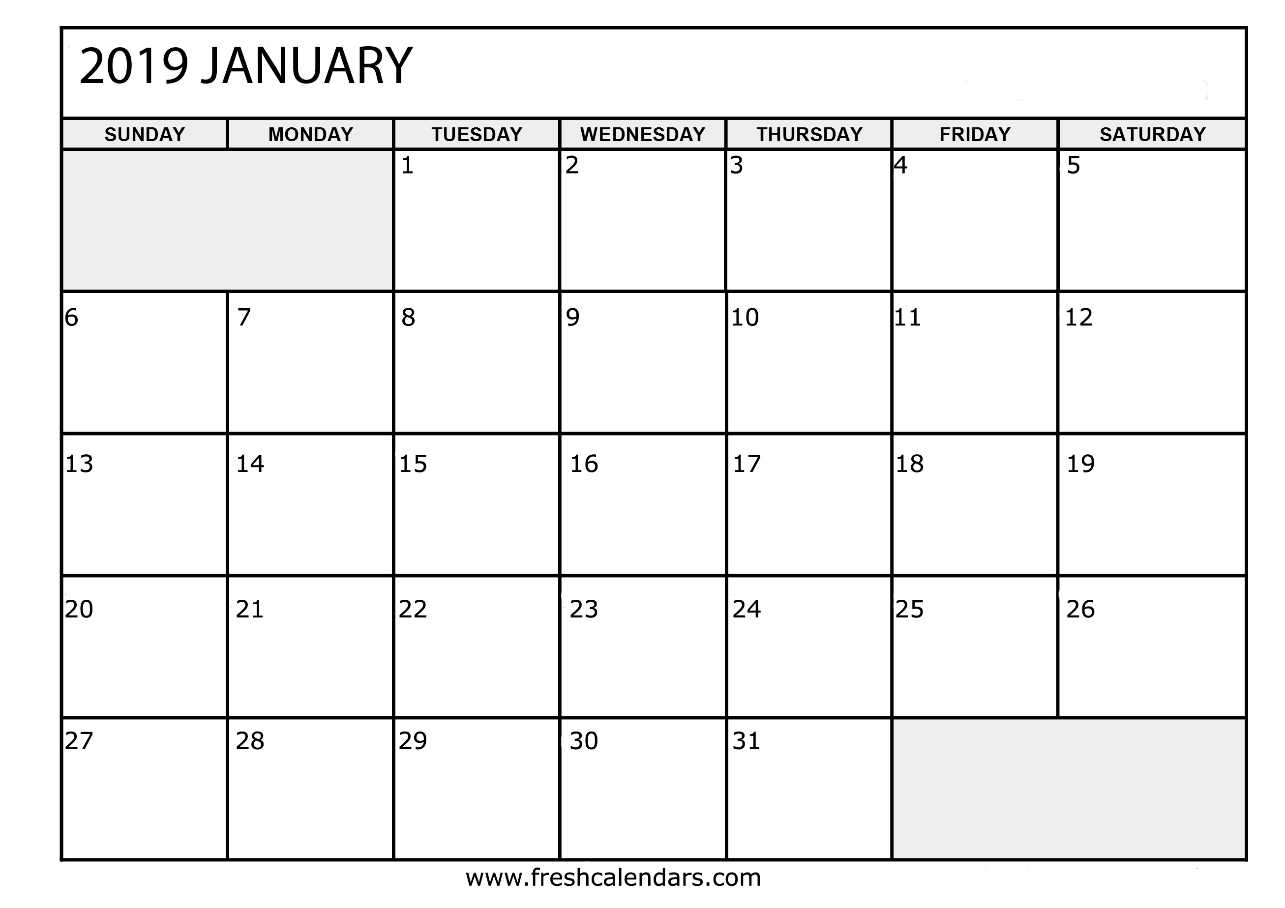 The spruce / lisa fasol these free, printable calendars for 2021 won't just keep you organized; January 2019 Calendar Printable