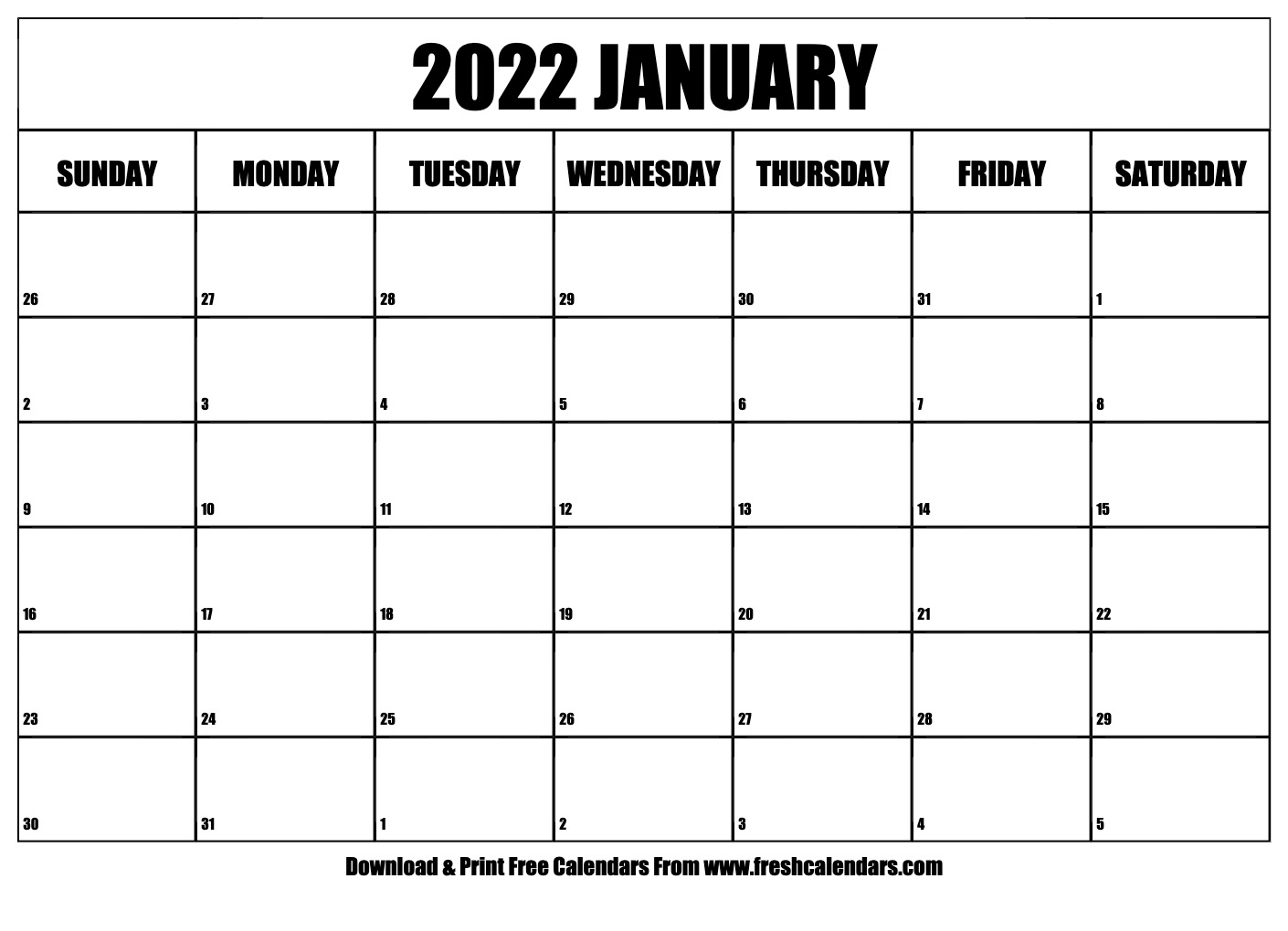 If you have any questions regarding these events, please contact us. Blank Printable January 2022 Calendars