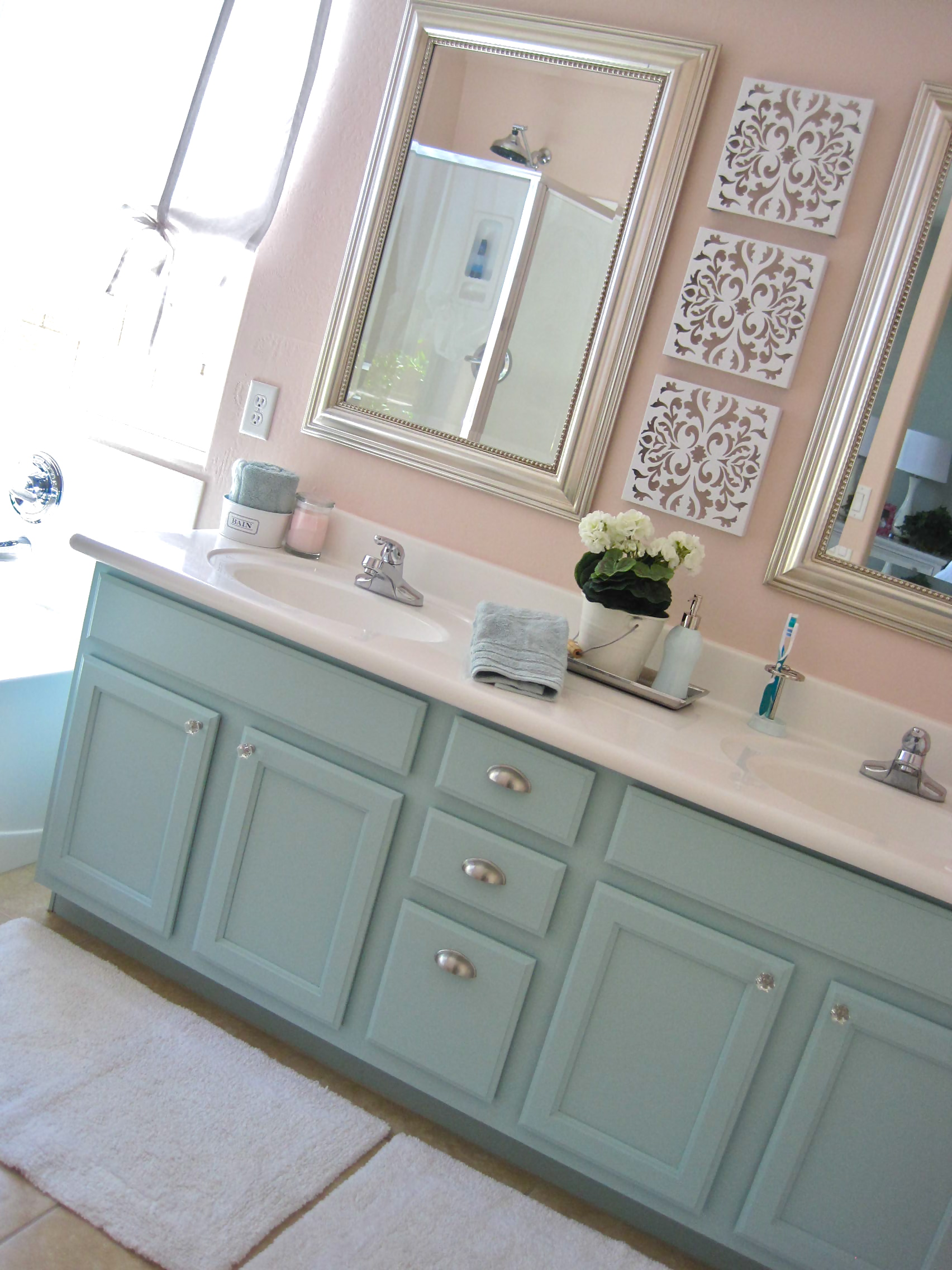 Painted Bathroom Vanity Master Bath Mini Makeover Make And Do Studio