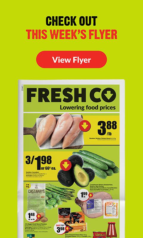Mcchicken Calories No Bun : mcchicken, calories, FreshCo, Lowering, Grocery, Prices, Every