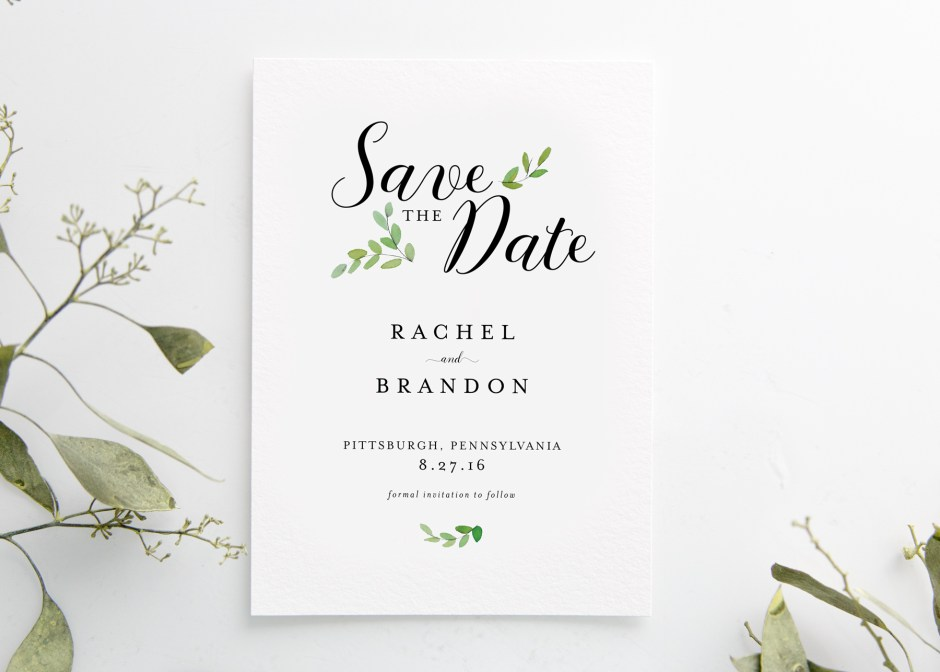 Botanical Branches Save the Date