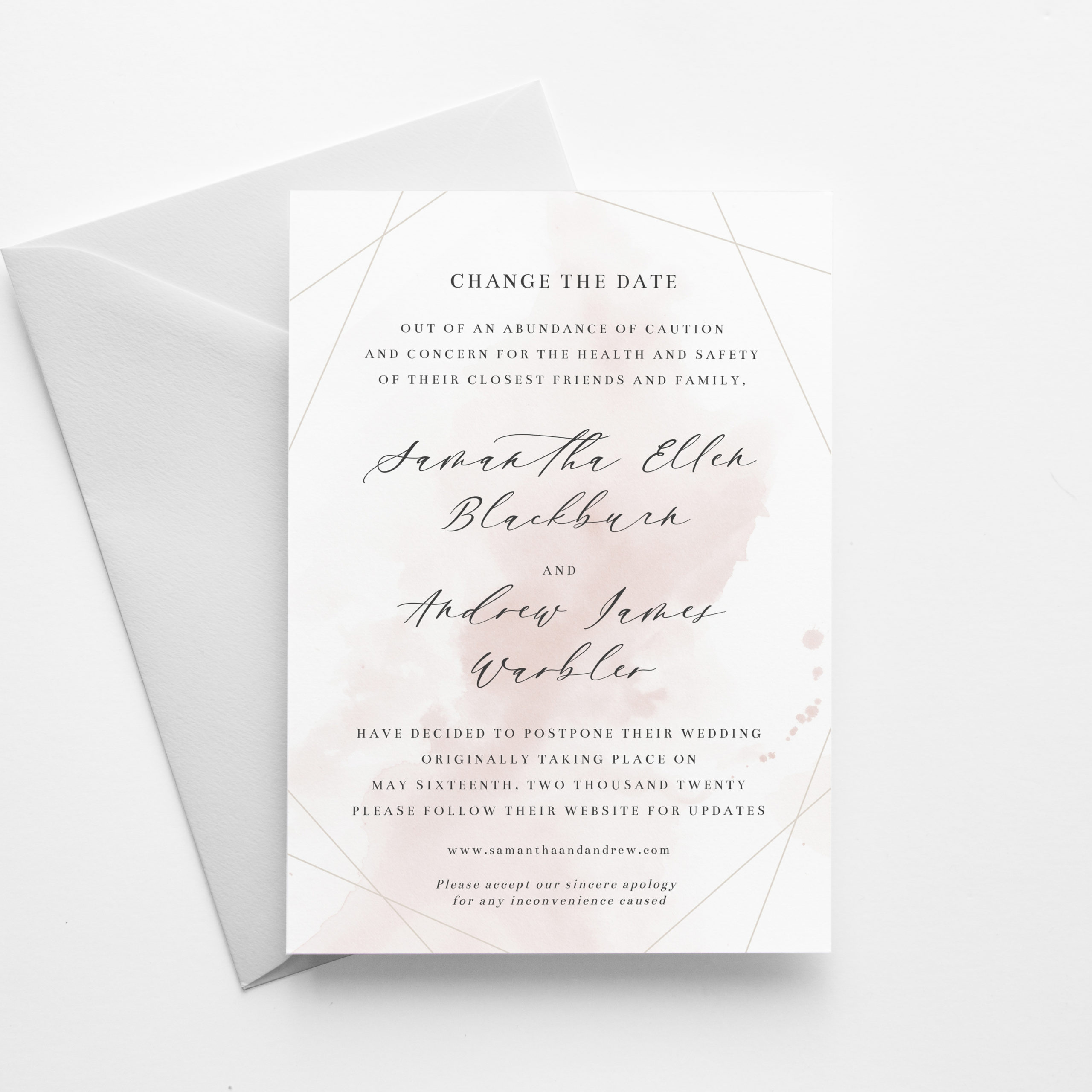 Wedding postponement template